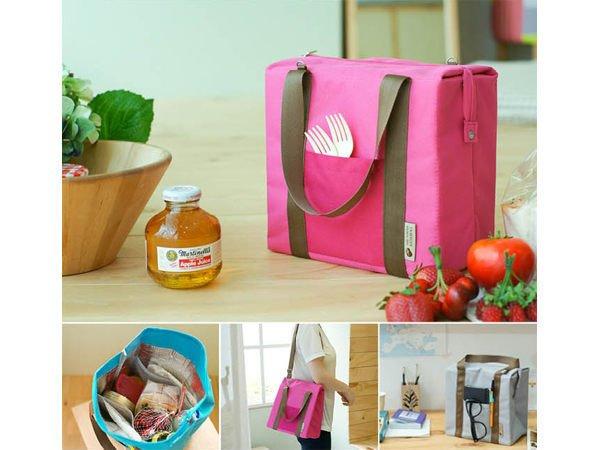BO雜貨【SV2929】韓版大號防水保溫包 便當包 午餐包 野餐包 側背包 斜背包