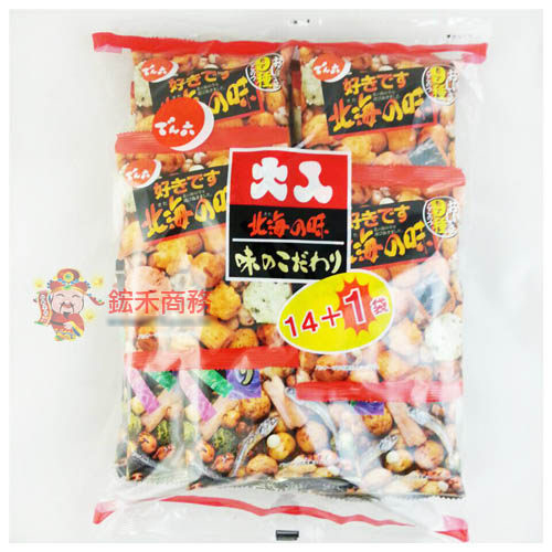 【0216零食會社】日本傳六 二色綜合豆果子351g(14+1包入)