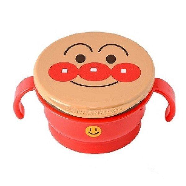 【真愛日本】14042400043 雙耳碗附蓋-AP紅 電視卡通 麵包超人 細菌人 餐盒 餐具 日本製