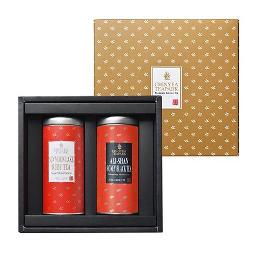 《沁意》臻藏 台灣頂級手採紅茶禮盒 (日月潭紅玉紅茶+阿里山蜜香紅茶)