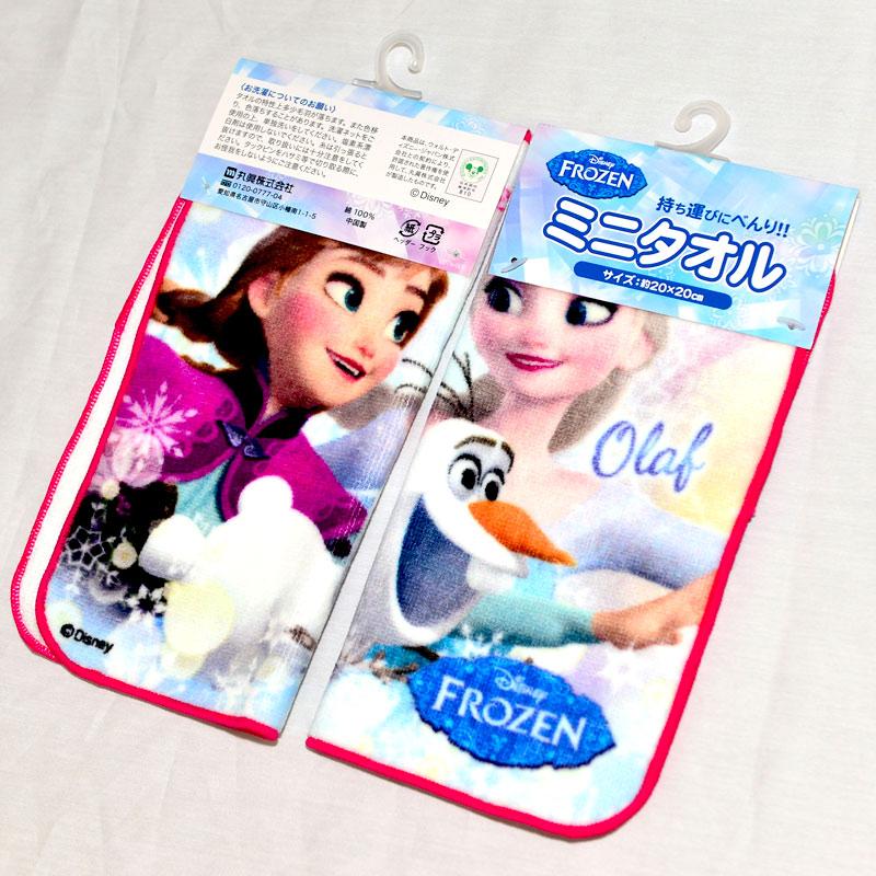 冰雪奇緣 FROZEN 小方巾 毛巾 100%純綿 日本帶回正版商品 迪士尼