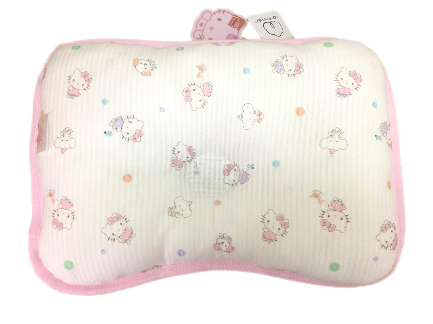 【真愛日本】12110300013 白點舒夢枕-粉 三麗鷗 Hello Kitty 凱蒂貓 嬰兒枕頭 凹型枕 正品