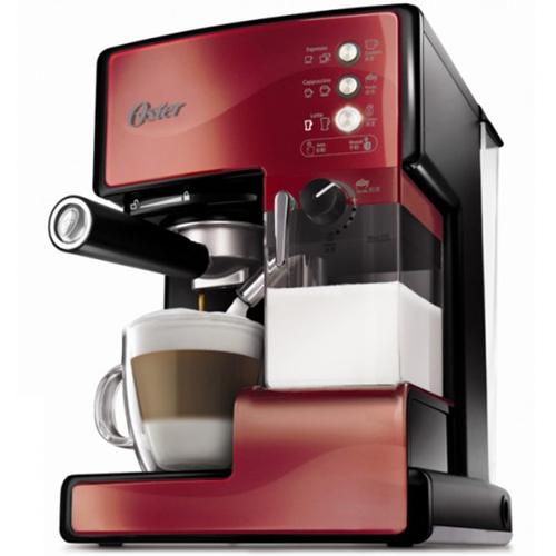 OSTER 美國  第二代奶泡大師 義式咖啡機  BVSTEM6602R 紅 PRO升級版 買就送雙層不銹鋼保溫飯盒