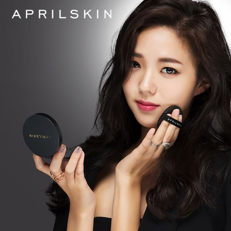 最新二代 韓國 APRIL SKIN 魔法雪白氣墊粉凝霜2.0 (黑盒) 15g 氣墊粉餅 底妝 粉底【B062334】
