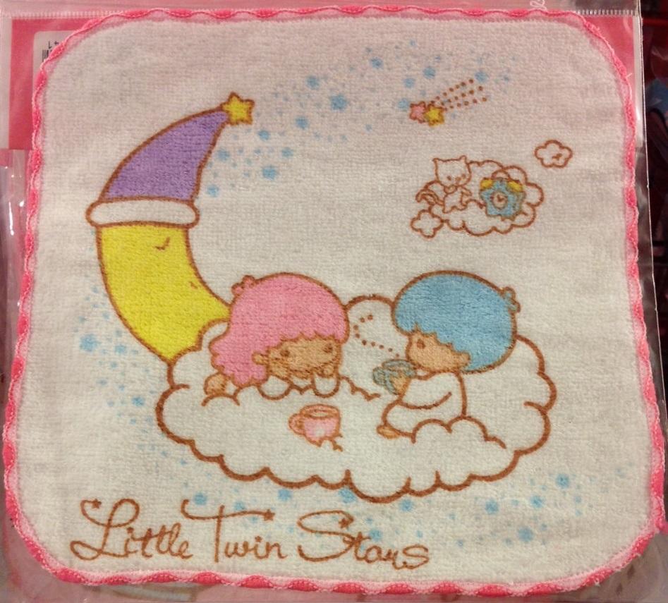 【真愛日本】16031500030 印花方巾-雙子星 雙子星 三麗鷗 KIKI LALA 小方巾 手帕 手巾
