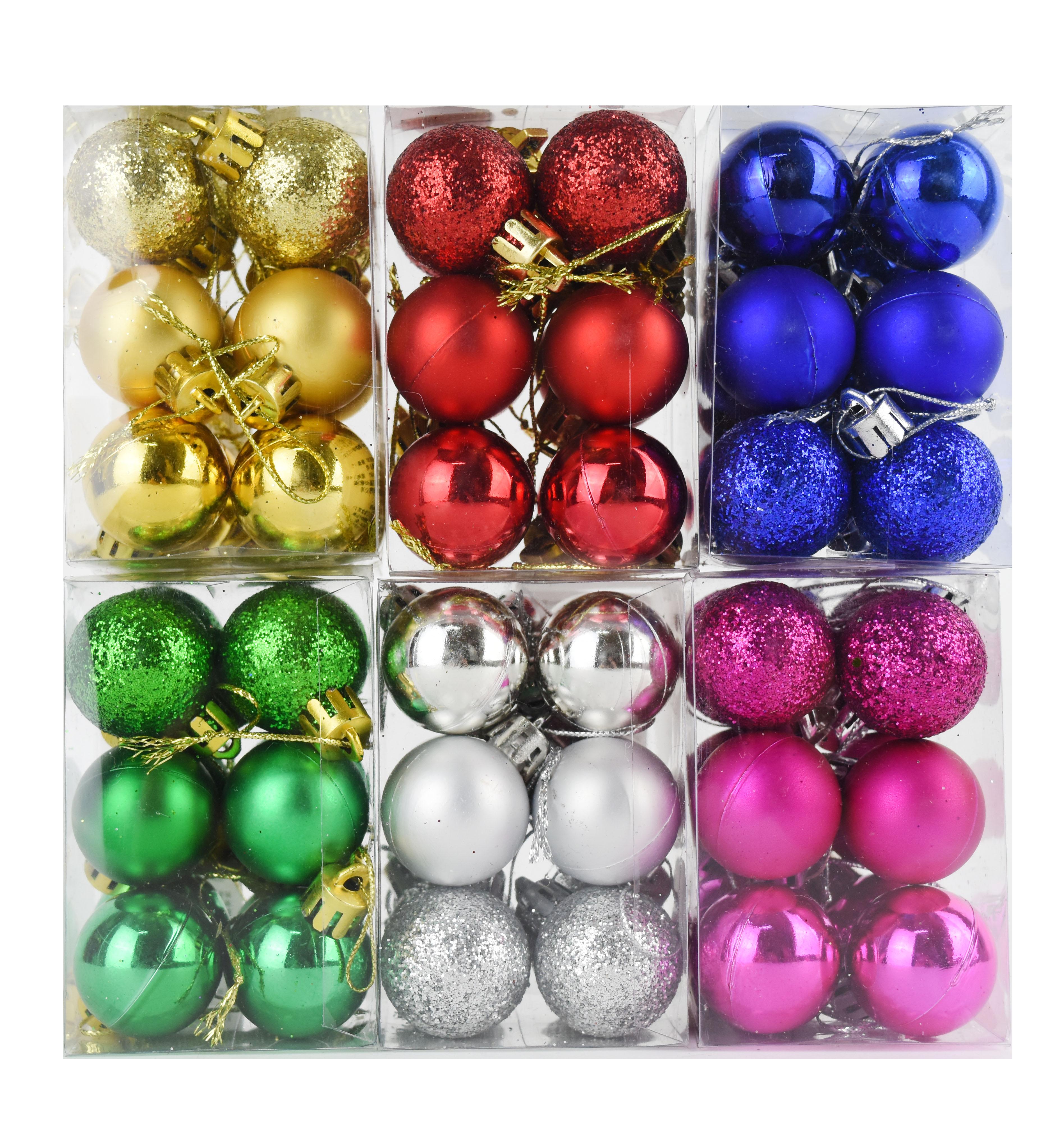 X射線 3cm混樣鍍金球-12入(綜合下標區),聖誕節/聖誕佈置/聖誕鍍金球/聖誕球/吊飾/會場佈置/DIY/材料包/電鍍球