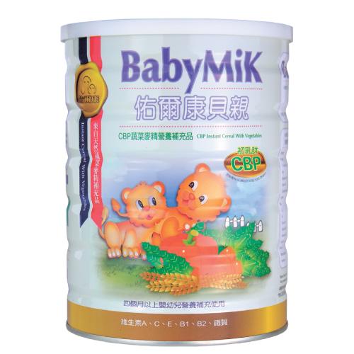 佑爾康貝親CBP蔬菜麥精營養補充品【450公克裝】*1罐