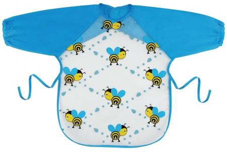『121婦嬰用品館』拉孚兒 擦可淨用餐圍兜(長袖型) - 蜜蜂滿版