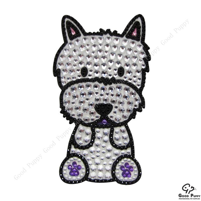 加拿大進口狗狗寵物水鑽貼紙-西高地白梗92975 Westie Terrier* 手機/平板/電腦/iPad/iPhone/小禮物/贈品