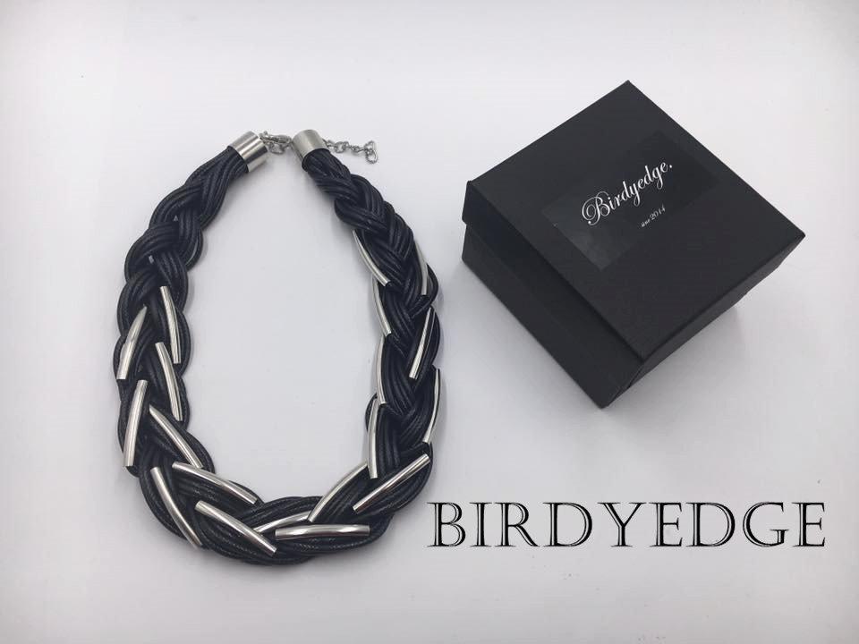 【Birdy Edge】歐美女性 設計 皮繩 多層次 項鍊 頸鍊 暗黑 項鍊 免運費
