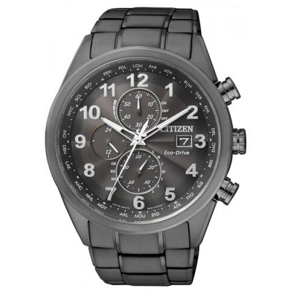 CITIZEN星辰AT8105-53高科技電波光動能腕錶/黑面43mm