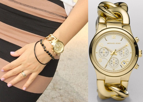 【Cadiz】美國真品正品Michael Kors金色三眼鍊錶 [MK3131/ Gold Bracelet Chronograph/ 代購/ 現貨]