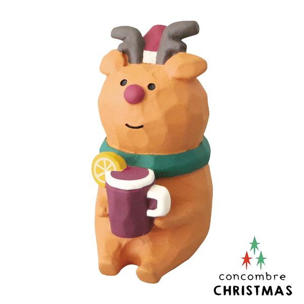 【森林系聖誕節限定版】日本擺飾小玩偶 / 公仔 -  Concombre 喝果的麋鹿 ( ZXS-48148 ) 推薦聖誕交換禮物 聖誕佈置裝飾推薦