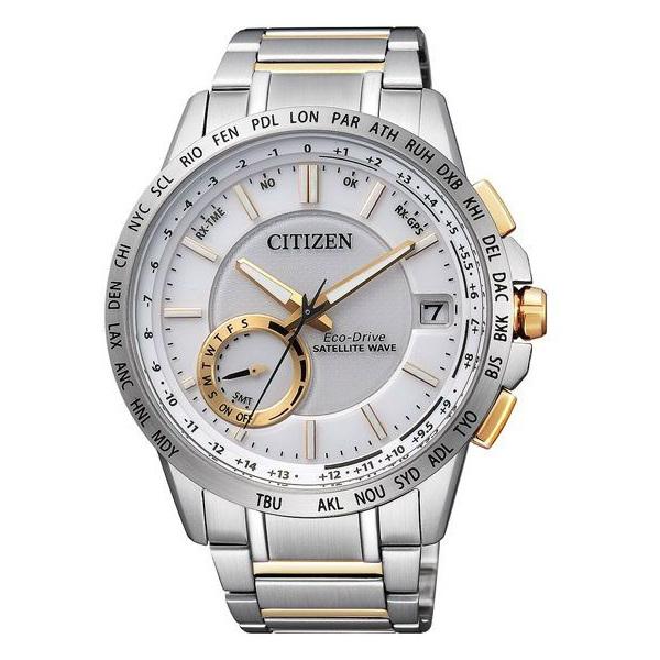 CITIZEN星辰CC3006-58A雙色衛星GPS對時光動能腕錶/白面44mm