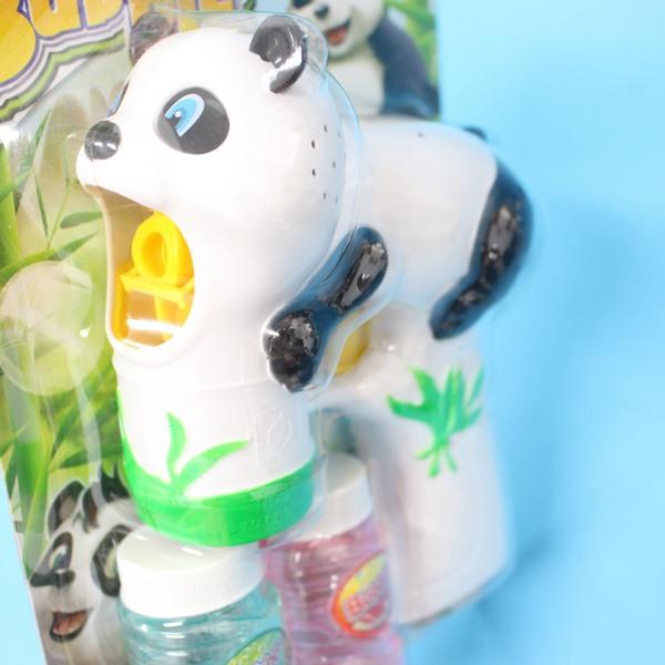 大熊貓泡泡槍 自動泡泡槍+泡泡水 聲光電動泡泡槍 吹泡泡機(附電池)/一支入{促199}~CF111903