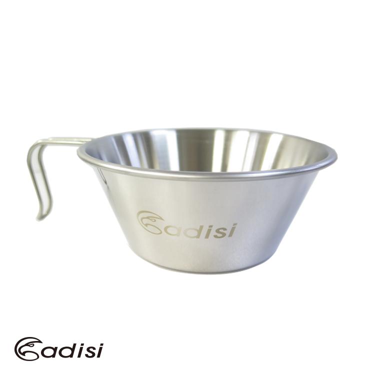 ADISI 大白金鋼碗AS15141/ 城市綠洲專賣(單人適用、戶外露營、炊煮、碗盤)