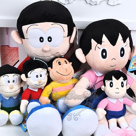 哆啦A夢小叮噹靜香大雄技安小夫3D電影小款吊飾玩偶021807海度