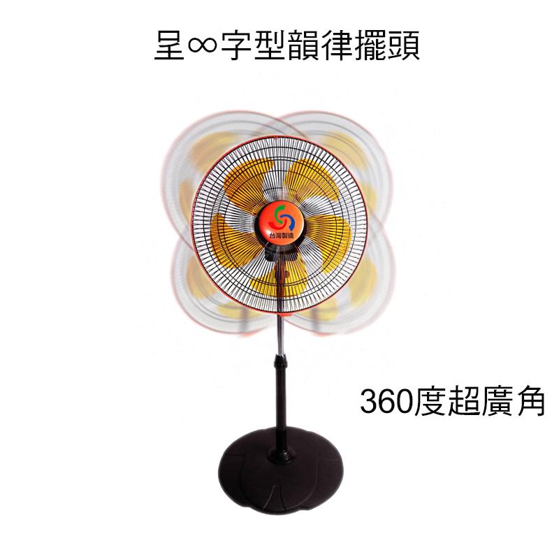 小玩子 金展輝 八方吹14吋 涼風扇 360轉 三段 超廣角 升降 A-1411