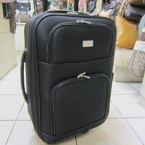 ~雪黛屋~LIAN YIN 20吋 登機行李箱 加大容量 雙輪設計 超輕防水硬式邊殼 輕巧平穩 LY168B黑