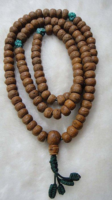尼泊爾 約8MM藏式老鳳眼菩提子108念珠(樸色)