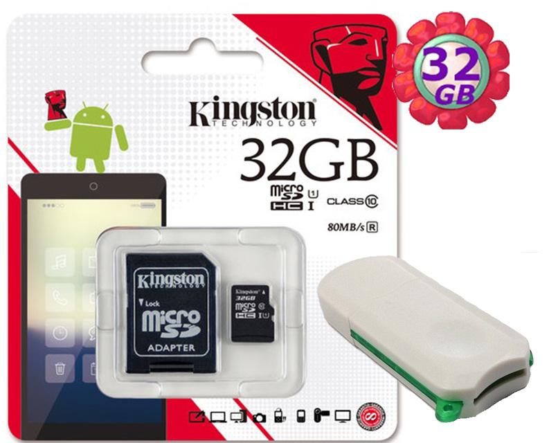 附V39 microSD 讀卡機 KINGSTON 32GB 32G 金士頓【80MB/s】microSDHC microSD SDHC micro SD UHS-I UHS U1 TF C10 Class10 手機記憶卡 記憶卡