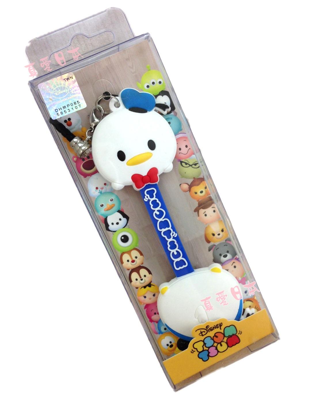【真愛日本】16072200008吊飾捲線器-唐老鴨    迪士尼  Donald Duck  唐老鴨   耳機集線器 收線器 正品