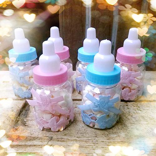 新品~$15.7/個  奶瓶棉花糖(20個) (婚禮小物 小蜂蜜 喜糖盒/伴手禮/彌月禮/喜餅/喝茶禮)