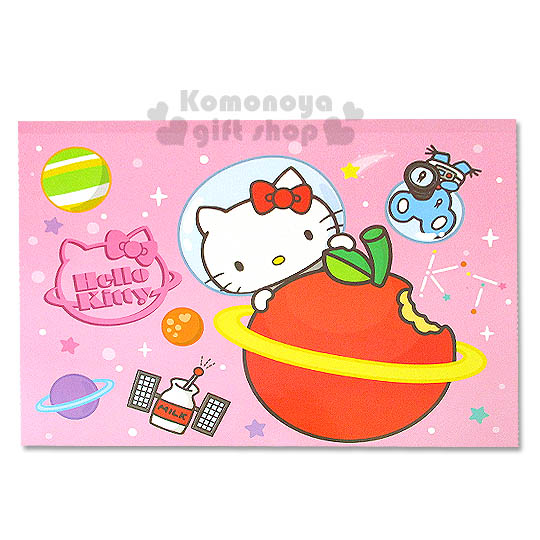 〔小禮堂〕Hello Kitty 精緻畫圖本《粉.太空裝.星球.橫式》