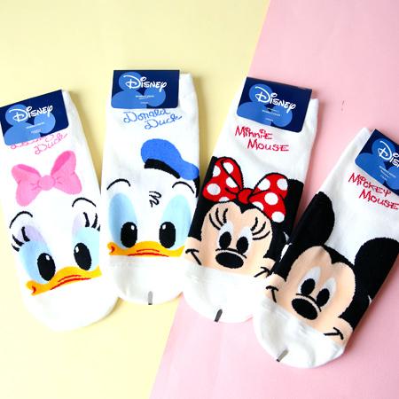 韓國 迪士尼好朋友大臉短襪 米奇 米妮 唐老鴨 黛西 襪子 造型襪 流行襪 迪士尼【N201814】