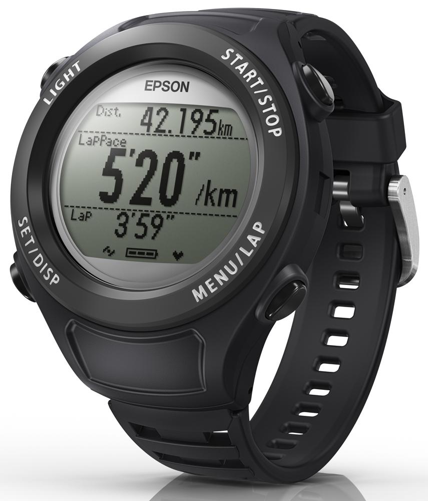 ➤路跑教練【和信嘉】EPSON Runsense SF-110B SF110 運動手錶(黑色) 跑步訓練 運動感測器 (含手錶功能) 公司貨 原廠保固一年