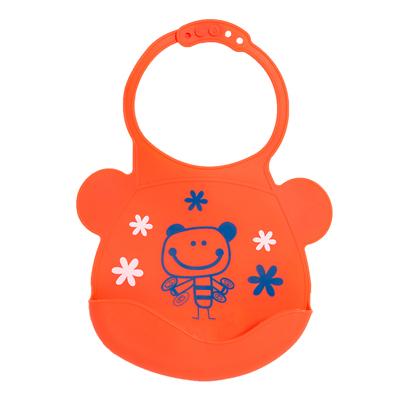 【悅兒樂婦幼用品舘】Creative Baby 可收納式攜帶防水無毒矽膠學習圍兜-活力寶貝