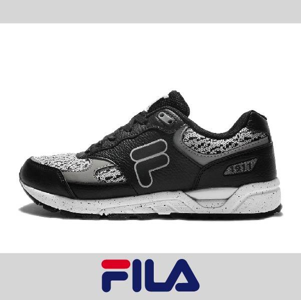 萬特戶外運動 FILA 1-J313Q-010 男復古慢跑鞋 透氣 舒適 防臭 吸震 抗磨損 黑色