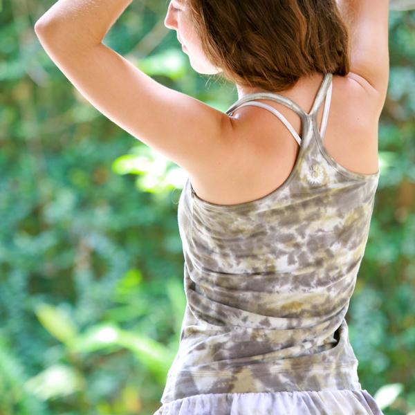 【Bali】有機棉紮染Y字背心 瑜珈服
