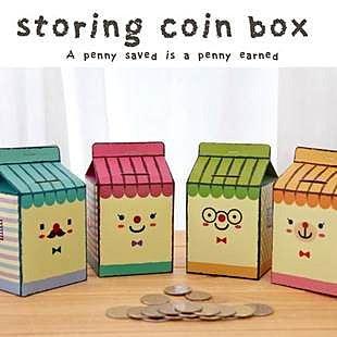 =優生活=《 DIY創意商品 》可愛創意牛奶儲存罐 存錢筒 自製存錢筒 DIY的樂趣