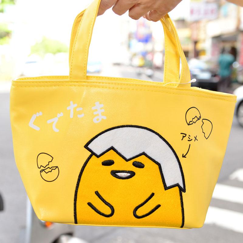 蛋黃哥 皮革不織布 防水保冰保冷保溫手提袋 餐袋 日本限定正版品