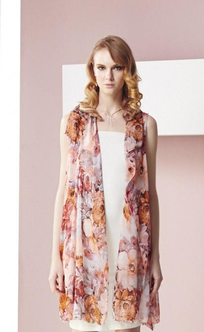 林廷芬服裝設計-Sanvi-v- 多變化穿法無袖罩衫洋裝
