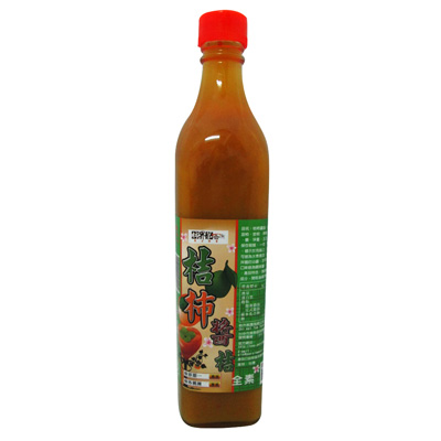 《好客-柿外桃園》桔柿醬進(甜柿桔醬),550g/瓶(免運商品)_A001008