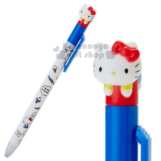 〔小禮堂〕Hello Kitty 造型原子筆《白.坐姿.對話框.甜點.牛奶.信封.趴姿造型》黑色筆芯