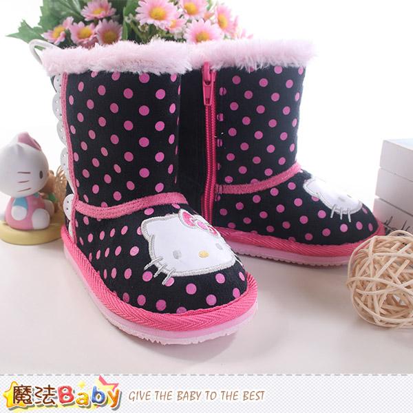 女童雪靴 Hello kitty授權正版長筒靴 魔法Baby~sh8800