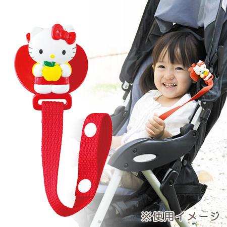 日貨 正版Hello kitty嬰兒車用夾(單入裝) 推車玩具夾 萬用夾 凱蒂貓 KT 三麗鷗 Pinocchio【N201082】