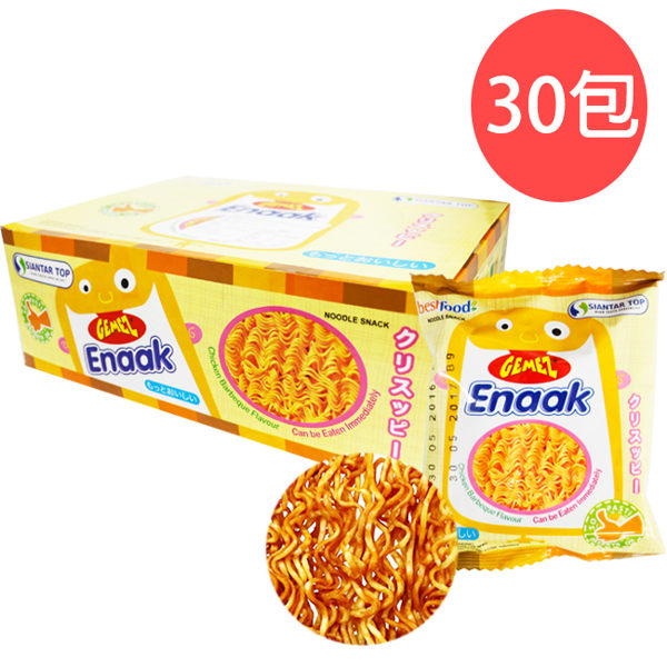 現貨↘韓國Enaak小雞香脆點心麵16g×30包【盒】小雞麵/零嘴隨手包480g/雞汁味〔網購家〕