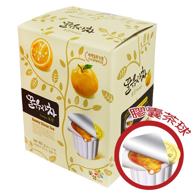 韓國꽃샘膠囊茶球禮盒30g×15顆-蜂蜜柚子茶/蜂蜜茶系列/果醬球〔網購家〕