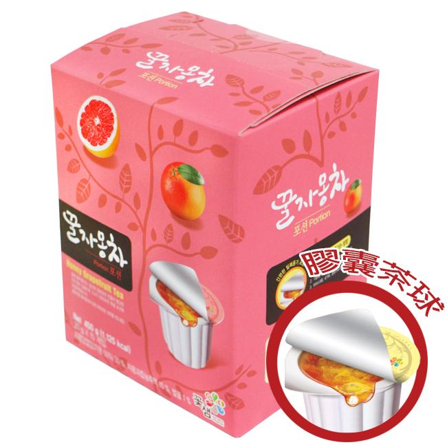 韓國꽃샘膠囊茶球禮盒30g×15顆-葡萄柚茶/蜂蜜茶系列/果醬球〔網購家〕
