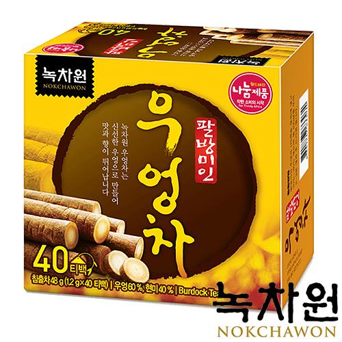 韓國Nokchawon綠茶園-牛蒡茶1.2g×40包/盒〔網購家〕