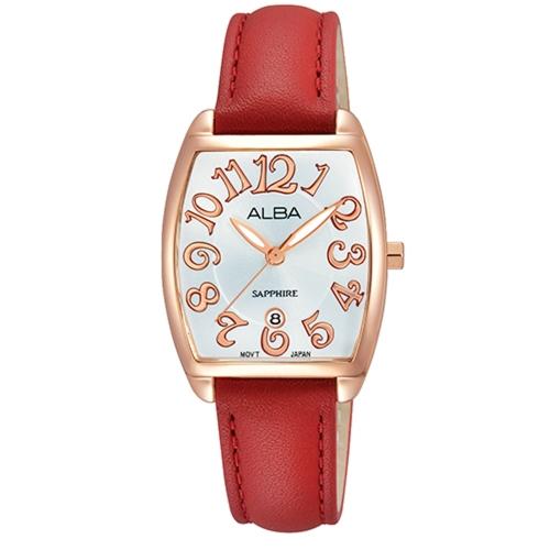 ALBA 優雅細緻玫瑰金女錶/VJ22-X235U
