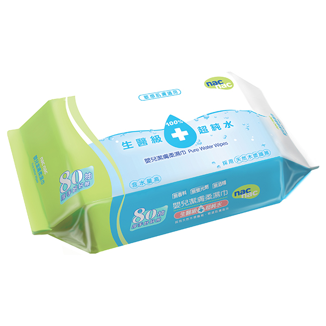 NAC NAC 超純水濕巾80抽 / 三入