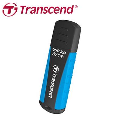 創見 JF810 32G USB 3.0 軍規抗震碟,防震抗摔、防潑水、防塵,適合旅行、戶外活動(天空藍) / 個