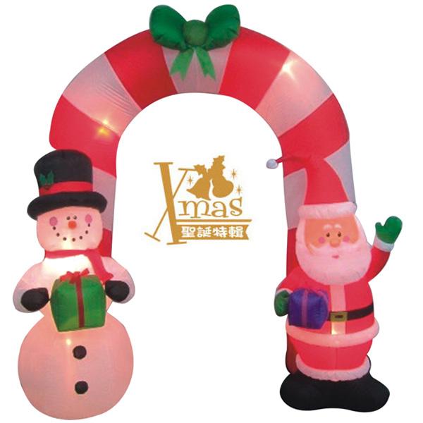 【X mas聖誕特輯2015】充氣老公公&雪人拱門 W09038500