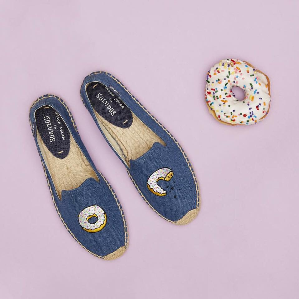 【Soludos】美國經典草編鞋-塗鴉系列草編鞋-甜甜圈