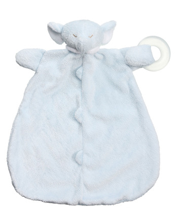 【美國 Angel Dear】動物嬰兒固齒安撫巾 ─ 藍色大象
